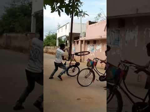 CYCLE STUNTS CYCLE WHELLING BICYCLE STUNTS  CYCLE SKILLS IN LIVING TAMIL #shorts thumbnail