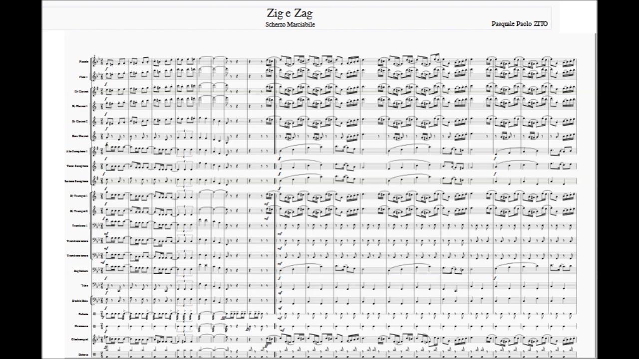 marching band (score, Pdf, partitura completa) zig zag