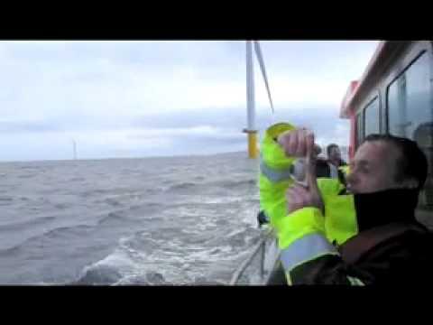 Fahrt zum Offshore-Windpark Rhyl Flats