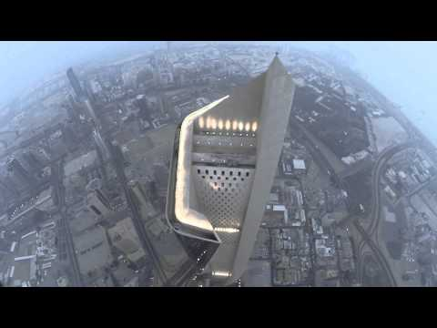 Dji phantom 2 Above Al Hamra Tower