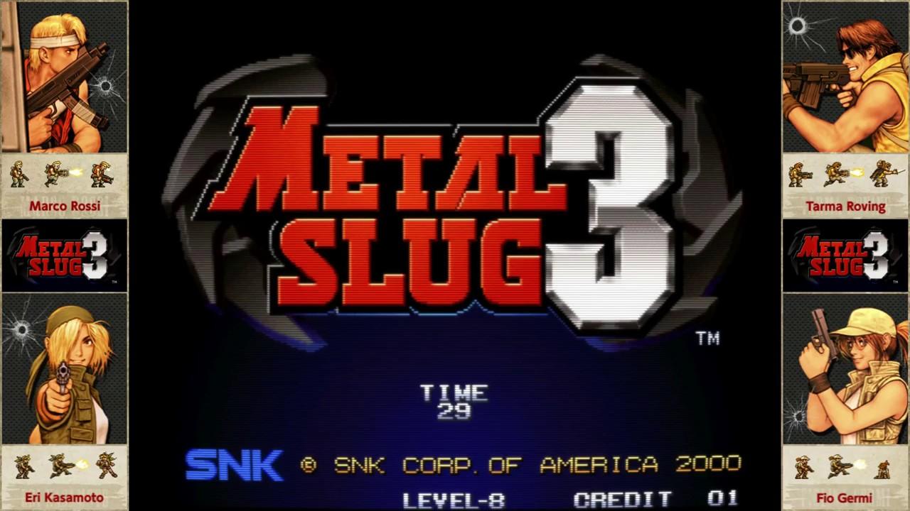 Group of Neogeo Bezel Metal Slug