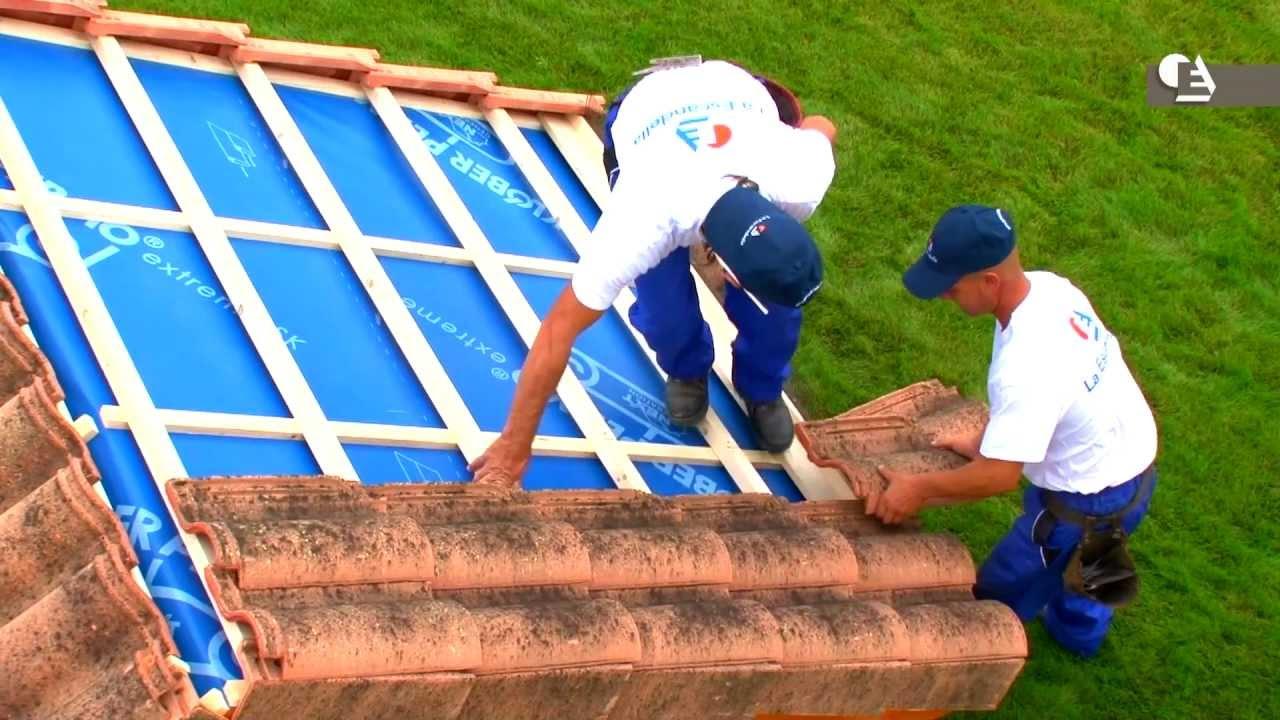 C mo instalar media teja y doble teja en cubiertas - Como colocar adoquines de hormigon ...