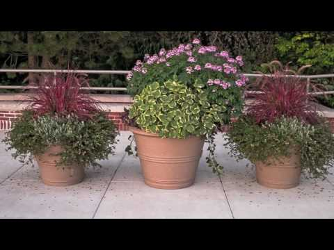 Mega-Pots-by-NewPro:heavy-duty-tapered-cylinder-plastic-planters