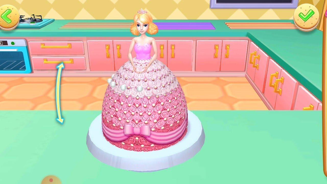 Masak Masakan Kue Membuat Kue Barbie Youtube