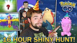 16 HOUR SHINY POKEMON HUNT! (Pokemon GO 2020 Event)