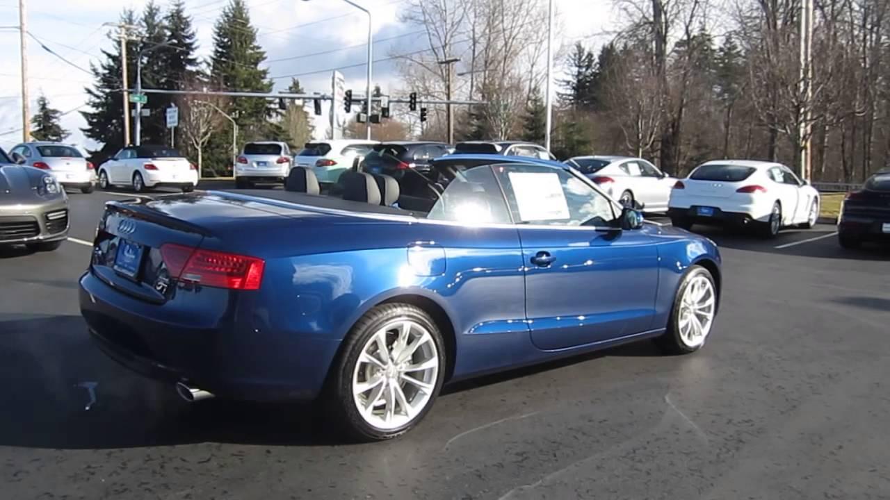 2014 Audi A5 Scuba Blue Metallic Black Stock 109770