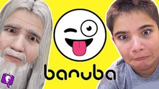 HobbyPig Is An Old Man?! Banuba App Fun with HobbyKidsTV