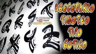 Abecedario timoteo informal Gótico