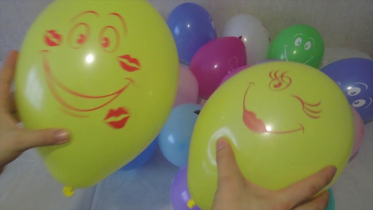 Песня семьи капитошек воздушные шарики Учим цвета ...