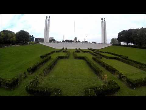 Parque Eduardo Sétimo Aerial view-drone
