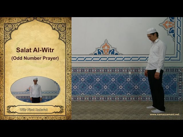 How to perform three rakats wajib salat al witr of isha in