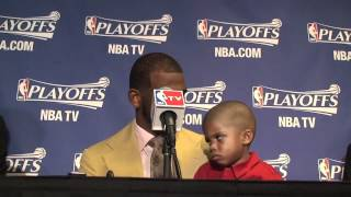 Chris Paul's son imitates Blake Griffin's game face