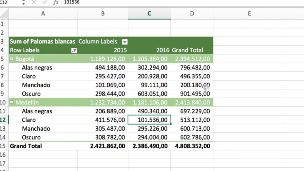 Cómo Filtrar En Tablas Dinámicas Ejemplo Excel Youtube