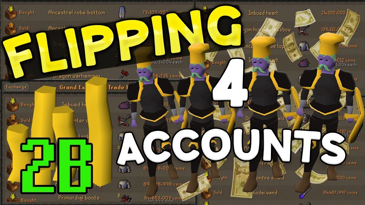 Making Money Flipping With 2B on 4 Accounts! [OSRS]