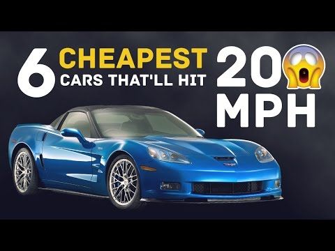 The 6 Cheapest Stock Cars That'll Hit 200mph