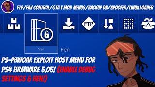 PS-Phwoar Exploit Host Menu For PS4 Firmware 5.05! | FTP, Mod Menus, Linux, Fan Control, Spoofer