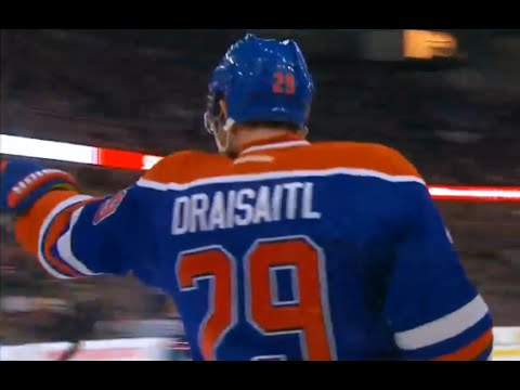 Draisaitl Scores Off a Sweet Feed From Hall vs New Jersey