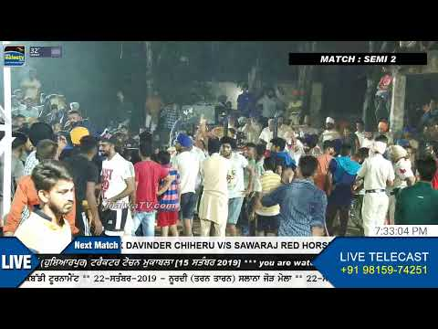 SEMI FINAL 2 at ADDA SARAN (Hoshiarpur) TRACTOR TOCHAN [15 Sep. 2019]