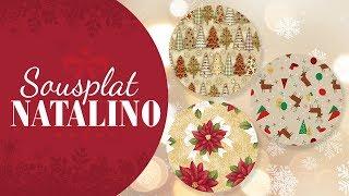 Aprenda Fazer Sousplat de Tecido Para o Natal