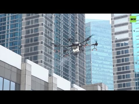 COVID-19 | Drones disinfect streets of Jakarta