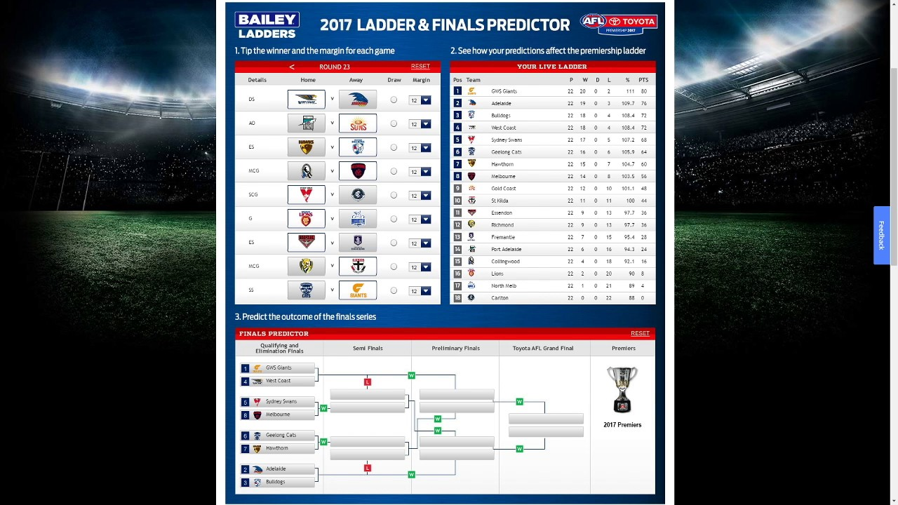 afl ladder - photo #24