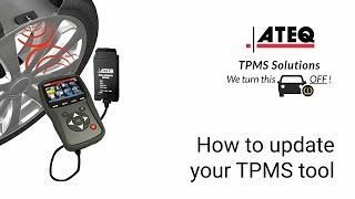 How to update your ATEQ TPMS tool - WebVT installation