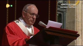 Homilía Del Papa Francisco En Solemnidad De San Pedro Y San Pablo, 29-6-2017