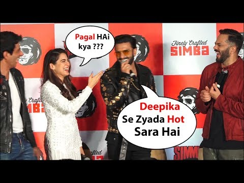 Ranveer Singh Makes Fun Of sara ali khan , compare hotness with wife deepika padukone