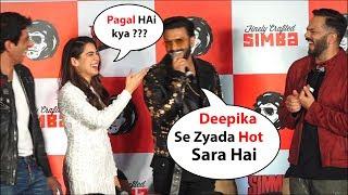 Ranveer Singh Makes Fun Of sara ali khan , compare hotness with wife deepika padukone