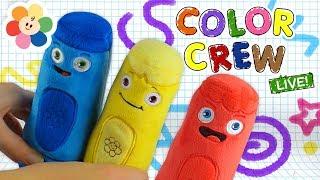 Todos los Colores | Juguetes de Pandilla de Colores | colores en español para niños | BabyFirst TV