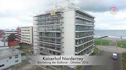 Sanierung der Fassade am Kaiserhof auf Norderney