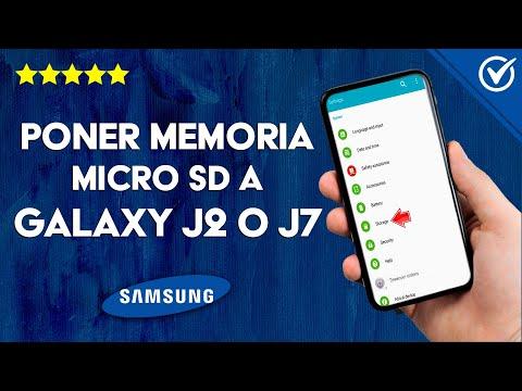 Cómo Poner una Tarjeta de Memoria o MicroSD en un Samsung J2 o J7 Prime
