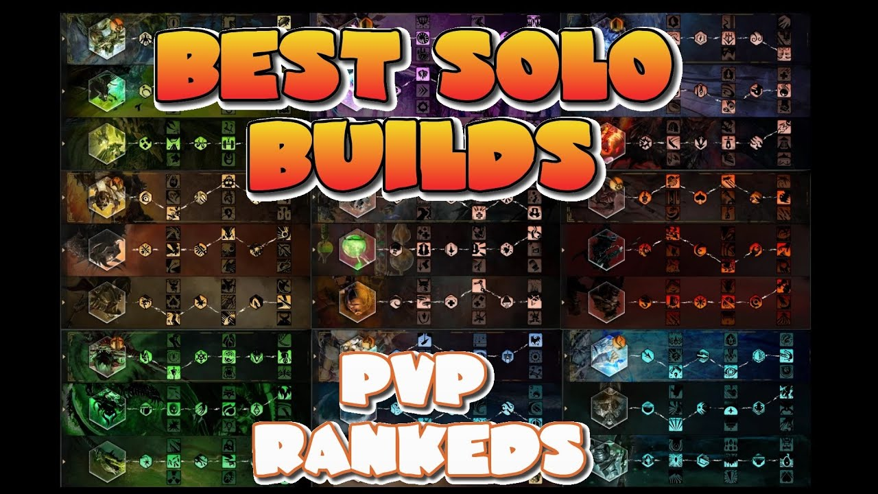 Guild Wars 2 Best SoloQ Builds for PVP Rankeds All Class Traits Sigils  Runes Amulets Weapons HadesGW
