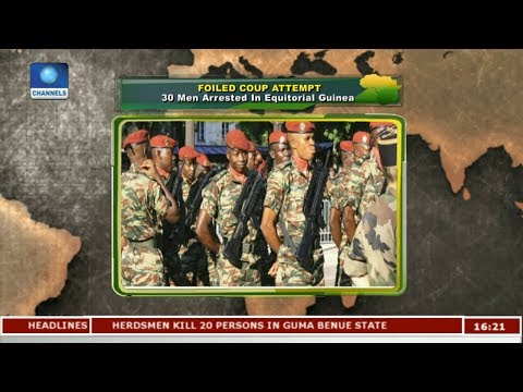30 Men Arrested In Equitorial Guinea Over Foiled Coup Attempt |Network Africa|