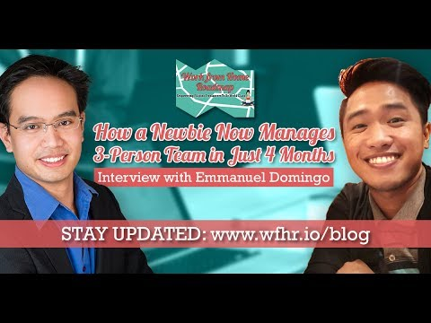 🔴 How a Newbie Now Manages a 3-Person Team in Just 4 Months | Work From Home Roadmap