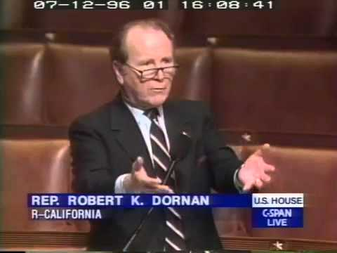 During 1996 House debate over DOMA, then Rep Bob Dornan cites Bill Clinton interview with the @thead
