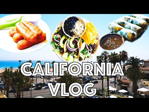 I Drove To California For Vegan Food and The Beach! | Alex Gharfeh