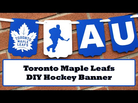 This is How I Make Toronto Maple Leafs Paper Banner | Behind the scenes | Etsy order