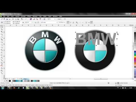 How to create BMW logo with Corel Draw x6