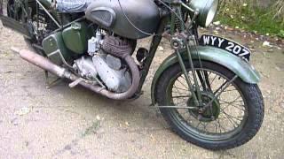 bsa wm20 nice original as released in 1959