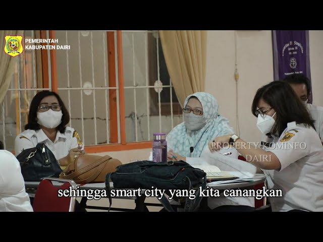 Bimtek II Penyelarasan Master Plan Smart City, Bupati Eddy Berutu Ingin Dairi Manfaatkan Teknologi