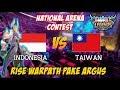 Rise Warpath Tampil Menggunakan Argus Indonesia vs Taiwan 19092017