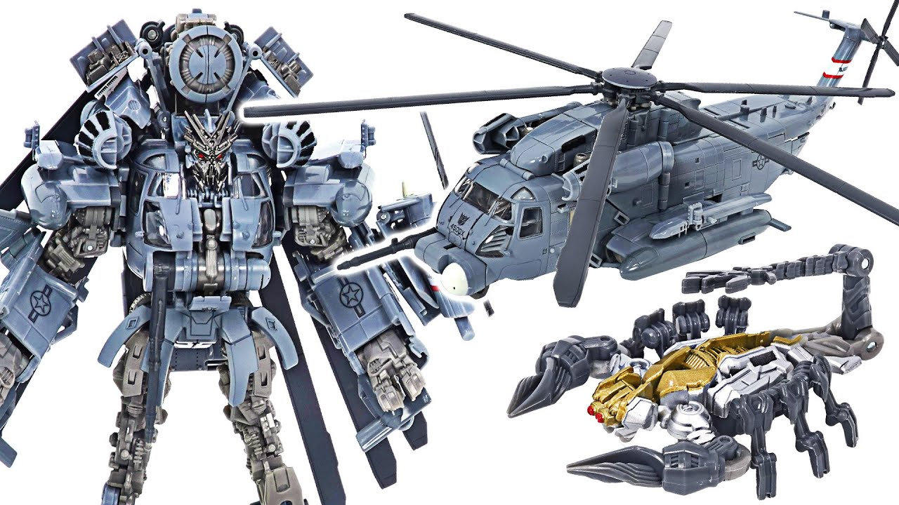 Transformers Studio series Blackout appeared! Transforms into helicopter, scorpion! | DuDuPopTOY