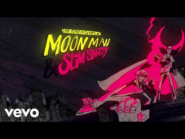 Kid Cudi, Eminem - The Adventures Of Moon Man & Slim Shady (Lyric Video)