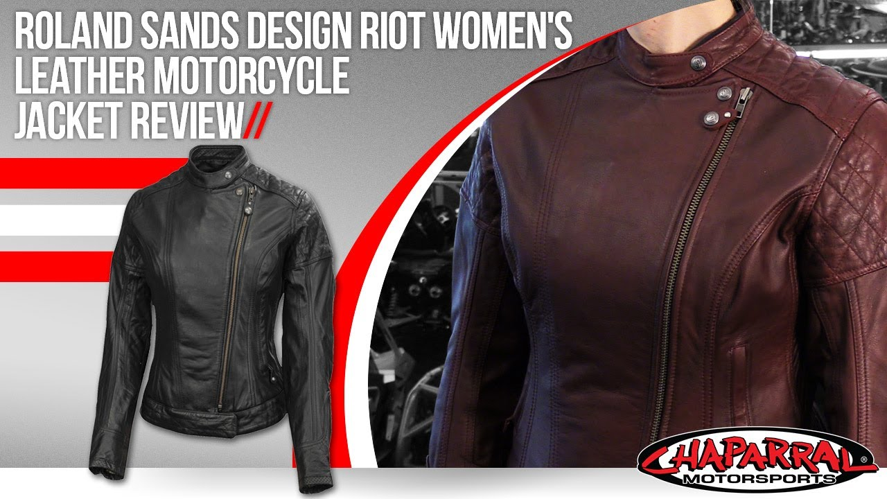 4bfecb559d Roland Sands Design Riot Womens Leather Motorcycle Jacket Review ...