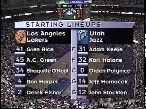 Lakers at Jazz - 11/2/99 (Phil Jackson's Laker Debut)