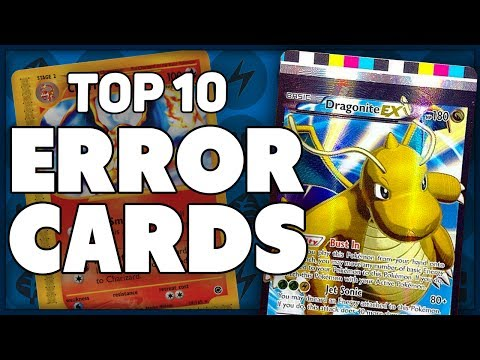 Top 10 Most Bizarre Pokemon Error Cards!