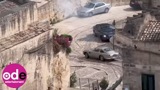 Dramatic Footage as Daniel Craig Films new James Bond Movie in Italy