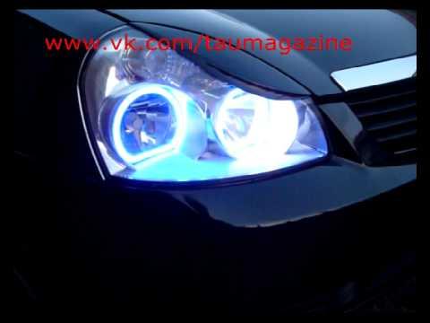 Ангельские глазки RGB на ваз 2170 Приора