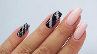 Braid nails tutorial / charbonne